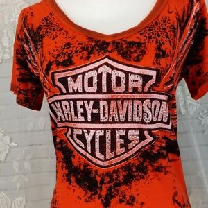 Harley Davidson womans short sleeve red shirt M